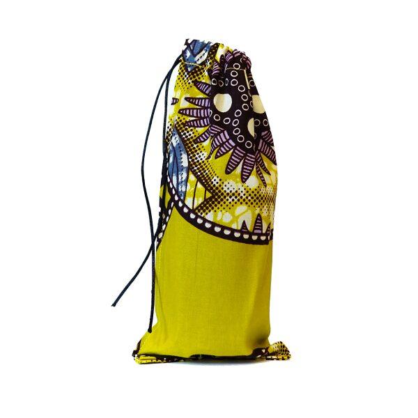 Pochette tissu ethnique jaune petite